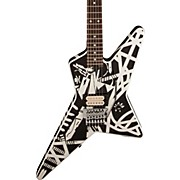 Stripe Series Star Electric Guitar Black and White Stripes