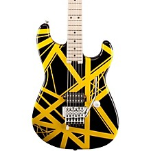 Striped Series Electric Guitar Black with Yellow Stripes
