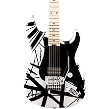 Striped Series Electric Guitar Level 1 White with Black Stripes