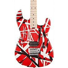 Striped Series Electric Guitar Red with Black Stripes