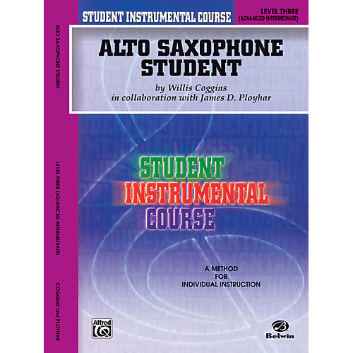 Alfred Student Instrumental Course Alto Saxophone Student Level 3 Book
