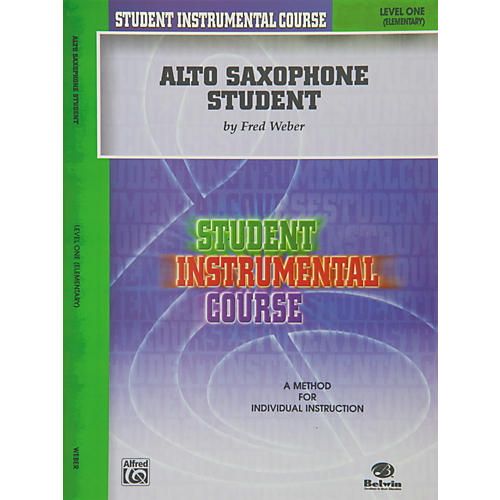 Alfred Student Instrumental Course Alto Saxophone Student Level I