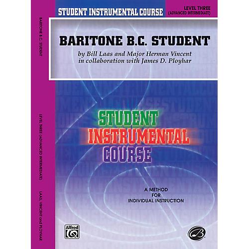 Alfred Student Instrumental Course Baritone (B.C.) Student Level 3 Book