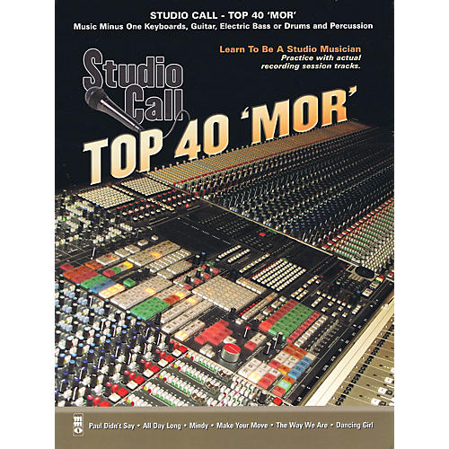 Music Minus One Studio Call: Top 40 'Mor' - Drums Music Minus One Series Softcover with CD