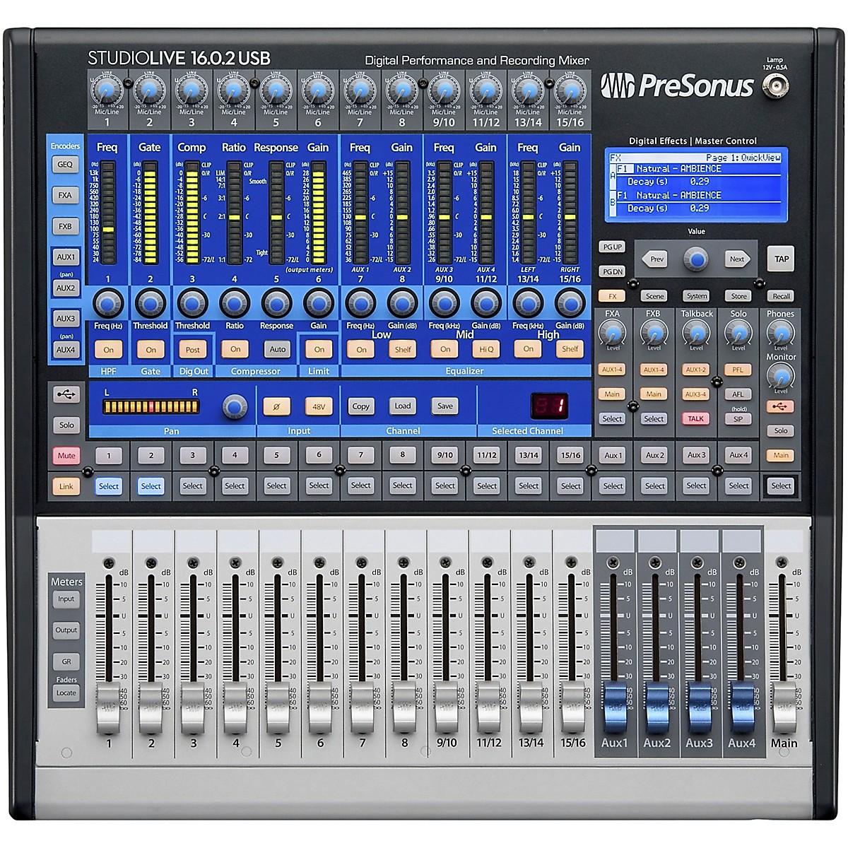 PreSonus StudioLive 16.0.2 USB 16x2 Performance and Recording Digital Mixer