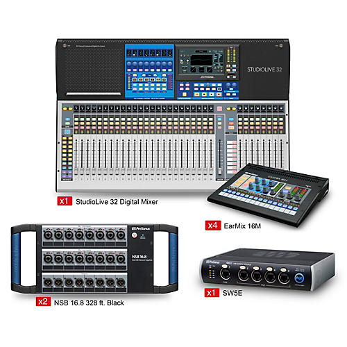 Presonus StudioLive 32 Tour and Stage EarMix Monitor and Switcher Package