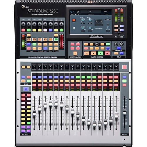 Presonus StudioLive 32SC 32-Channel Mixer with 17 Motorized Faders and 64x64 USB Interface