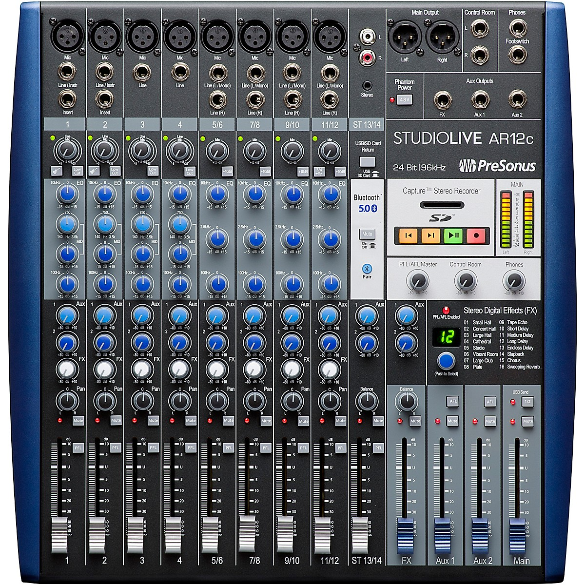 Presonus StudioLive AR12c 12-Channel Hybrid Digital/Analog Performance Mixer