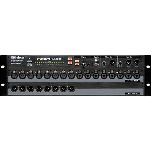 presonus studiolive rml 16ai 16 channel rackmount digital mixer guitar center. Black Bedroom Furniture Sets. Home Design Ideas