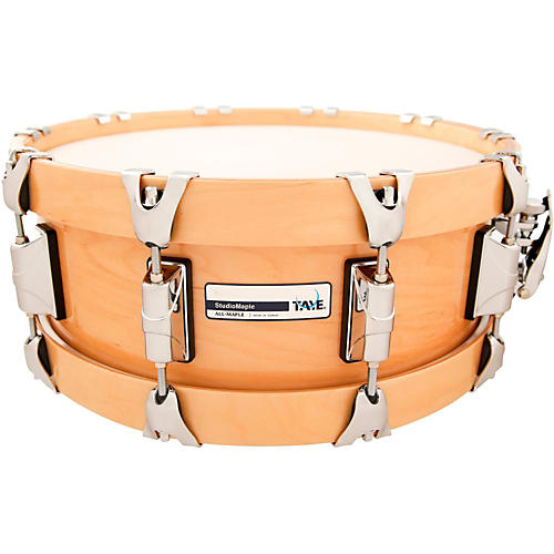 Taye Drums StudioMaple Snare Drum with Natural Maple Wood Hoops