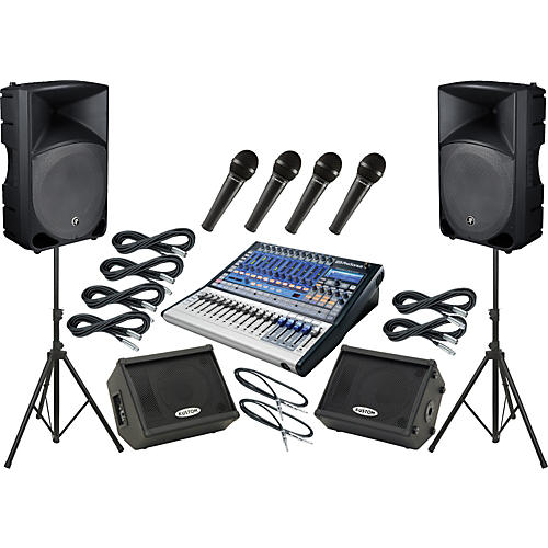 Presonus Studiolive 16.0.2 / Mackie Thump TH-15A Mains and Monitors Package