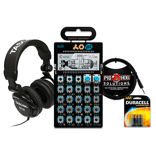 Teenage Engineering Sub Pocket Operator with Batteries, Headphones and Cable