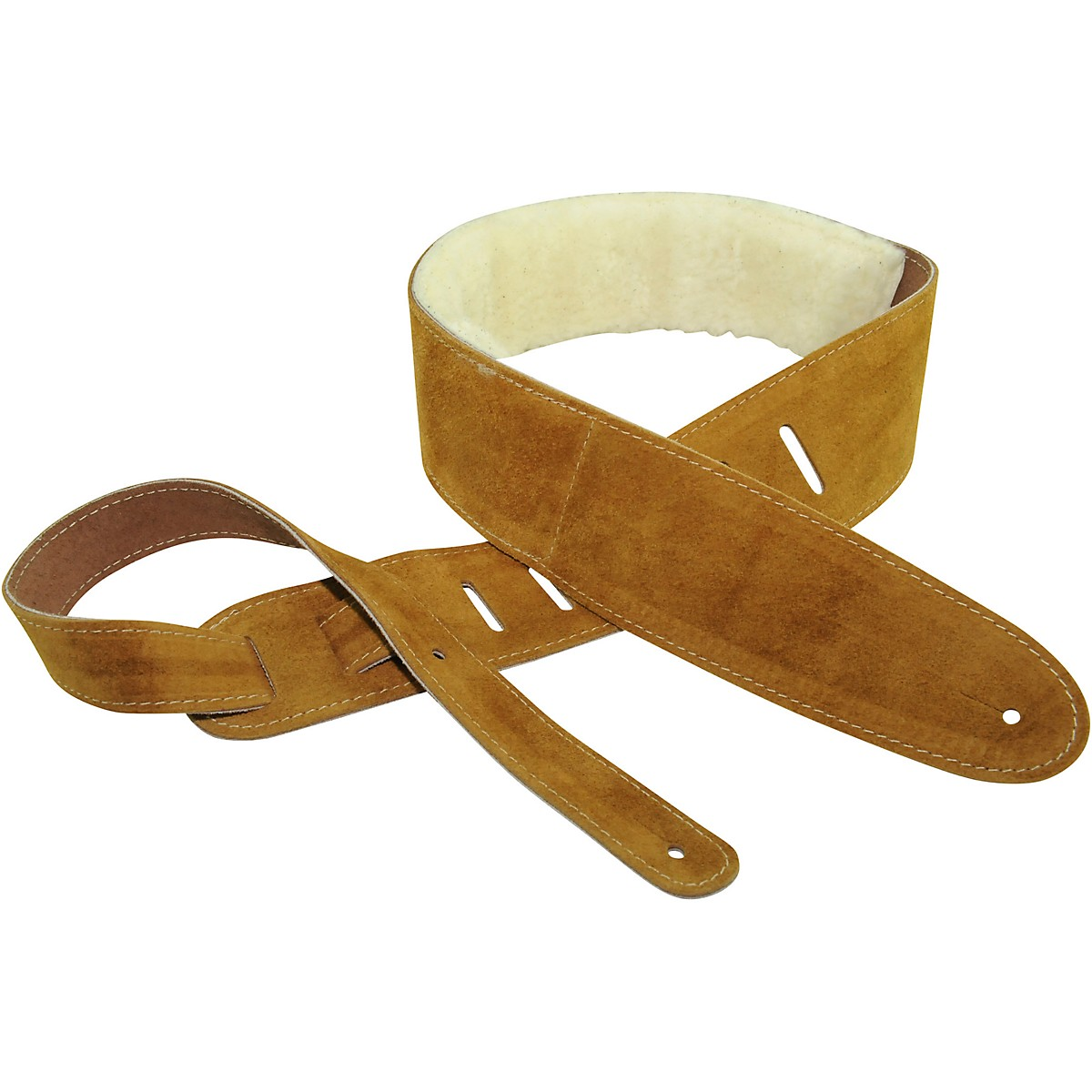 Perri's Suede With Sheep Skin Guitar Strap