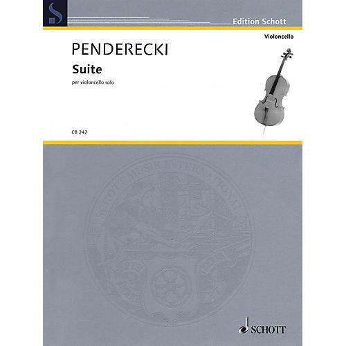 Schott Suite (Cello Solo) String Solo Series Softcover