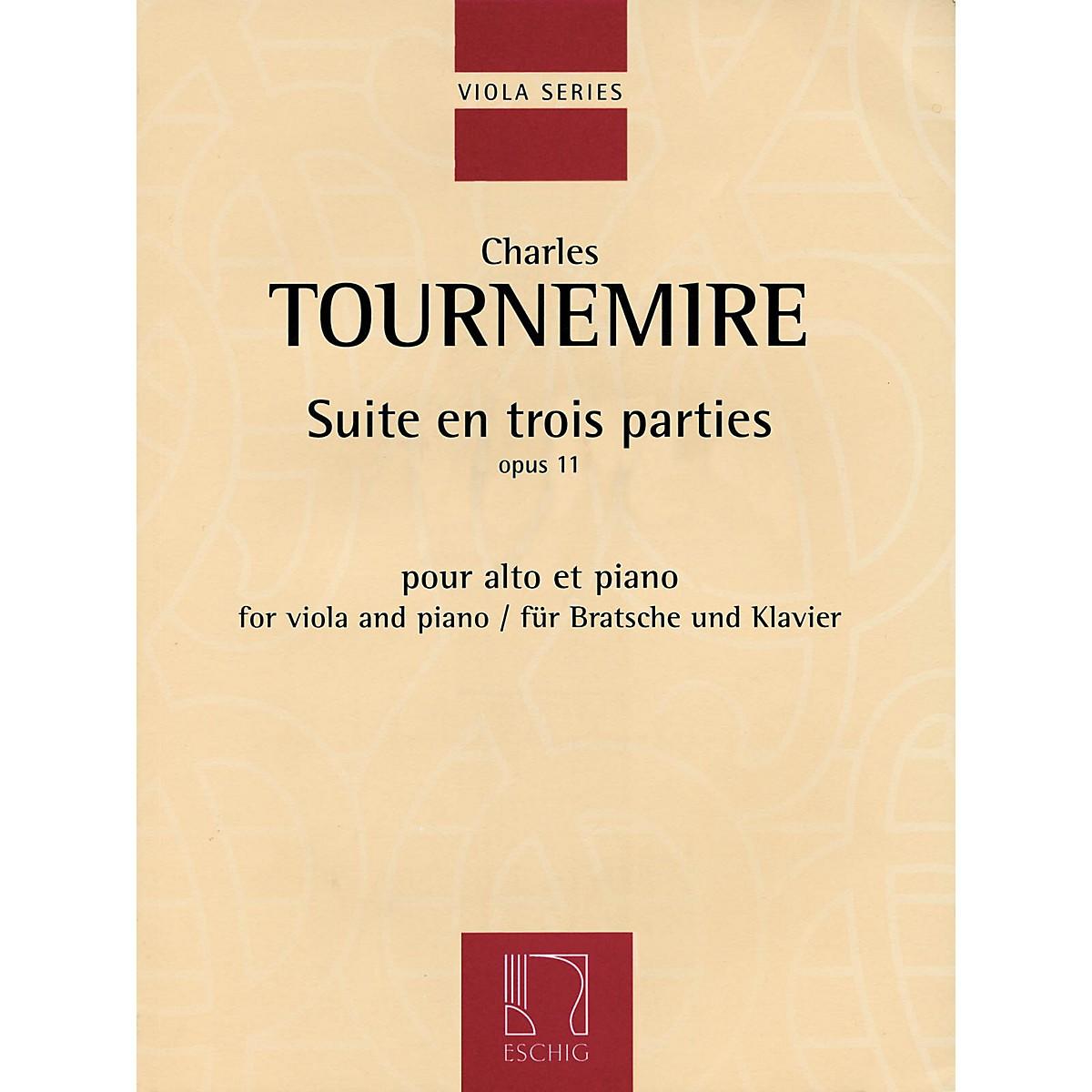 Max Eschig Suite en trois parties, Op. 11 (Viola and Piano) Editions Durand Series