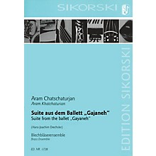 Sikorski Suite from Gayaneh (for Brass Ensemble Score) Study Score Series by Aram Khachaturian