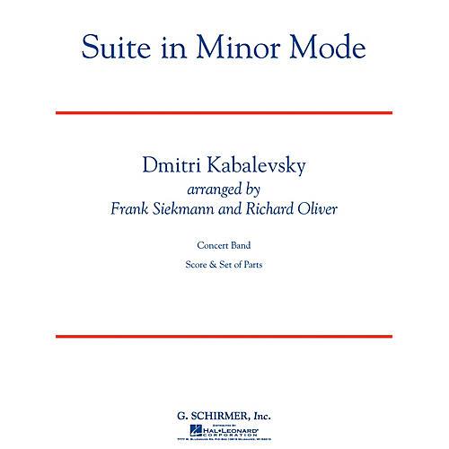 G. Schirmer Suite in Minor Mode Concert Band Level 3 Composed by Dmitri Kabalevsky Arranged by Siekmann/Oliver