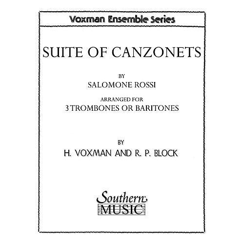Southern Suite of Canzonets (Trombone Trio) Southern Music Series Arranged by Himie Voxman