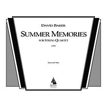 Lauren Keiser Music Publishing Summer Memories (String Quartet) LKM Music Series Composed by David Baker