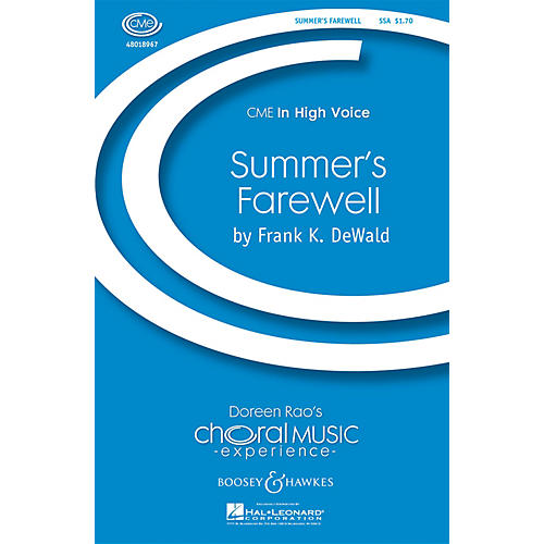Boosey and Hawkes Summer's Farewell (CME In High Voice) SSA composed by Frank DeWald