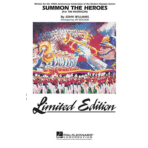 Hal Leonard Summon the Heroes Marching Band Level 5 Arranged by Jay Bocook