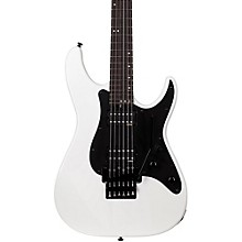 Sun Valley Super Shredder FR SFG Electric Guitar Gloss White Black Pickguard