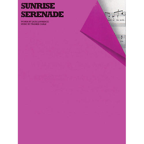 Music Sales Sunrise Serenade Music Sales America Series