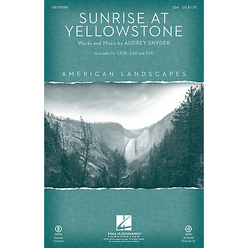 Hal Leonard Sunrise at Yellowstone (from American Landscapes) SSA
