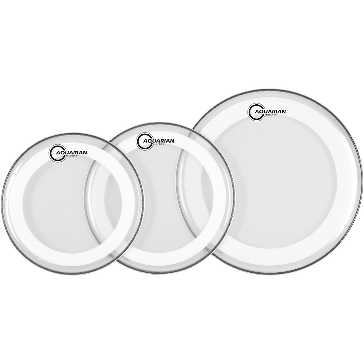 Aquarian Super-2 Drumheads with Studio-X Ring Rock Pack