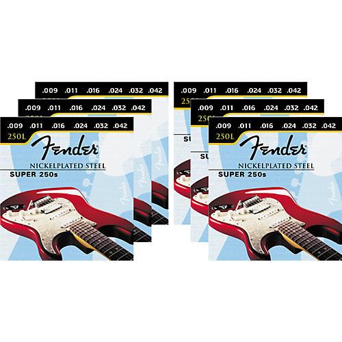 Fender Super 250L 9-42 6-Pack