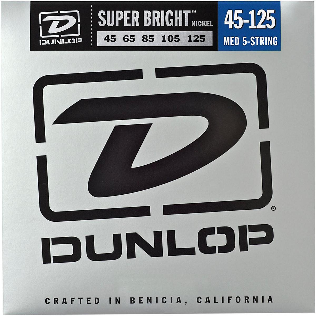 Dunlop Super Bright Nickel Medium 5-String Bass Guitar Strings