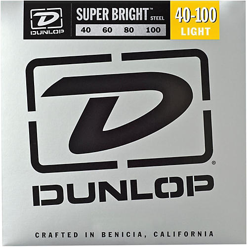 Dunlop Super Bright Steel Light 4-String Bass Guitar Strings