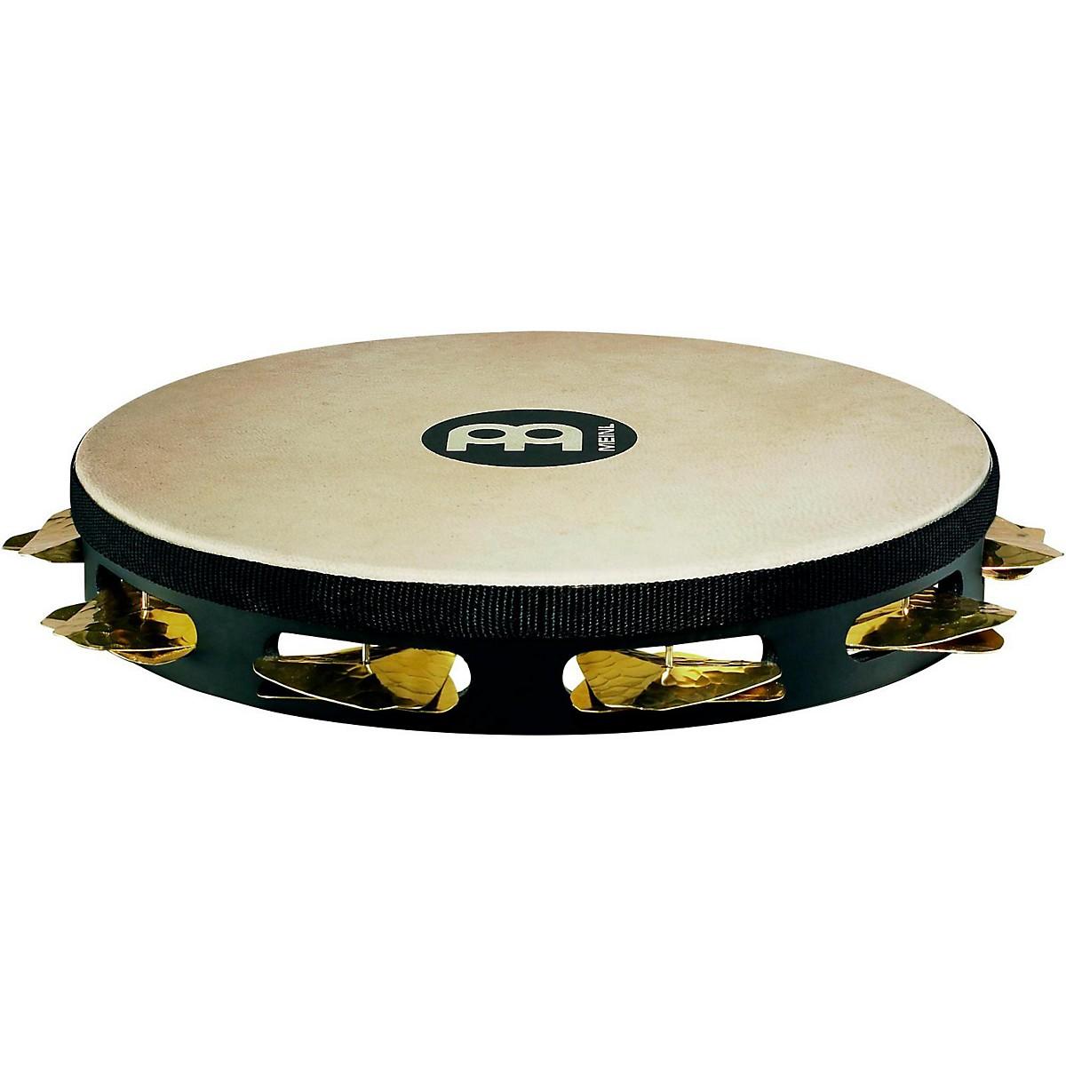 Meinl Super-Dry Studio Goat-Skin Wood Tambourine One Row Brass Jingles
