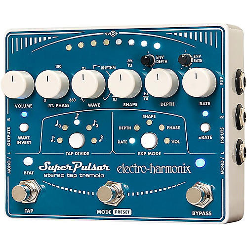 Electro-Harmonix Super Pulsar Tremolo Guitar Effects Pedal