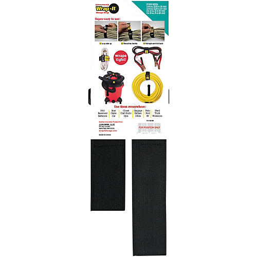 Wrap-It Storage Straps Super Stretch Assorted 4 Pk