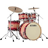 TAMA Superstar Classic Custom 5-Piece Shell Pack Ruby Natural Burst