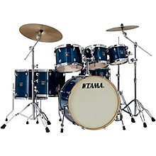 Superstar Classic Custom 7-Piece Shell Pack Transparent Blue Lacquer