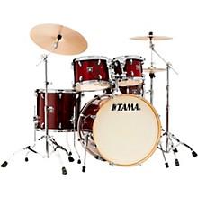 Superstar Classic Exotix 5-Piece Shell Pack with 22 in. Bass Drum Gloss Garnet Lacebark Pine