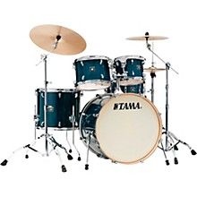 Superstar Classic Exotix 5-Piece Shell Pack with 22 in. Bass Drum Gloss Sapphire Lacebark Pine