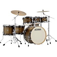 Superstar Classic Exotix 7-Piece Shell Pack with 22 in. Bass Drum Matte Charcoal Elm Burst