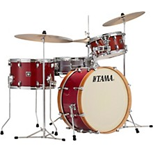 Superstar Classic Maple Neo-Mod 3-Piece Shell Pack with 22 in. Bass Drum Transparent Cherry Red