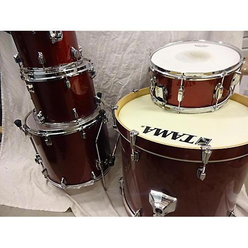 used tama superstar drum kit red sparkle guitar center. Black Bedroom Furniture Sets. Home Design Ideas