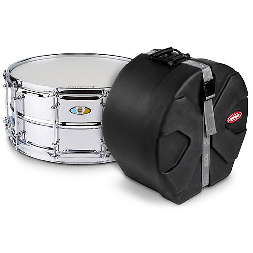 Ludwig Supralite Snare Drum with SKB Case