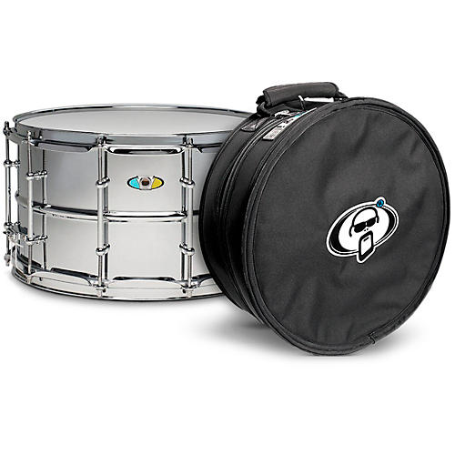 Ludwig Supralite Steel Snare Drum with Protection Racket Case