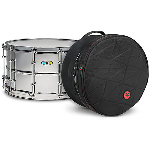 Ludwig Supralite Steel Snare Drum with Road Runner Bag