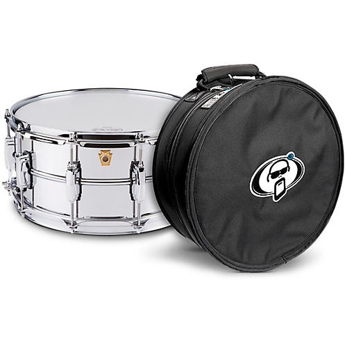 Ludwig Supraphonic Snare Drum Chrome with Protection Racket Case