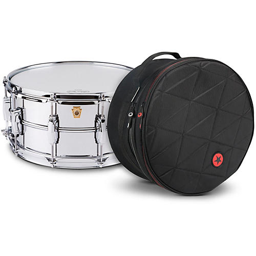 Ludwig Supraphonic Snare Drum Chrome with Road Runner Bag