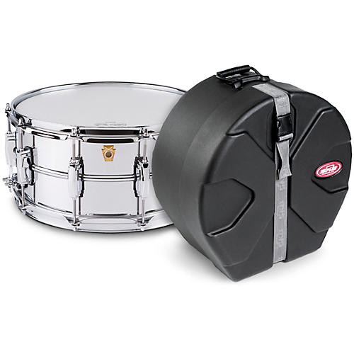 Ludwig Supraphonic Snare Drum Chrome with SKB Case