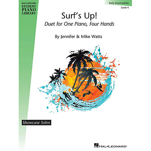 Hal Leonard Surf's Up! Piano Library Series by Jennifer Watts (Level Early Inter)