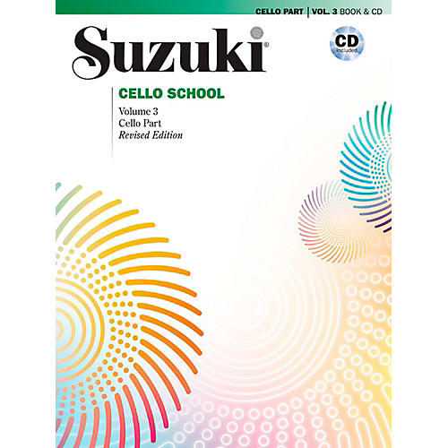 Suzuki Suzuki Cello School Book & CD Volume 3 (Revised)